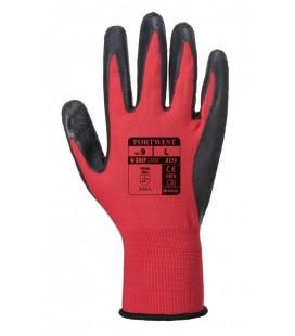A174 - Flex Grip Latex Glove - piros-fekete