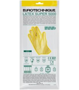 Htg sárga gumikesztyű, 30cm/0,5mm, pamutbolyhozott belső
