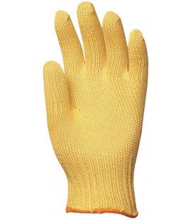 Kötött vastag sárga kevlar kesztyű, vágásbiztos, hőálló