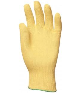 Kötött vékony sárga kevlar kesztyű, vágásbiztos, hőálló
