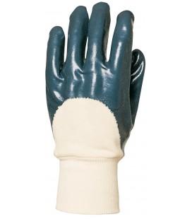 Eurotril kézhátig duplán mártott kék nitril kesztyű, act