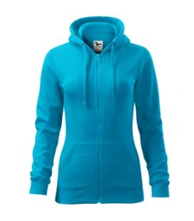 Női cipzáras, kapucnis pulóver - több színben TRENDY ZIPPER411