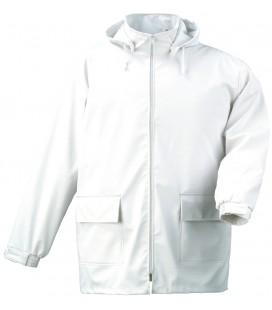 Food fehér pu kabát