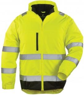 Hi-way 2in1 pe láthatósági kabát - sárga-fekete