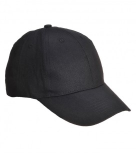 B010 - Baseball sapka, hat paneles - fekete