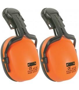 Fültok+adapter sisakra, hi-viz narancs