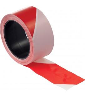 Jelzőszalag 7cm/200m piros/fehér