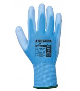 A120 - Nylon kesztyű PU tenyérmártott - kék
