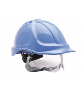 PW54 - Védősisak védőszemüveggel kombinált - több színben