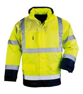 Airport fluo pu 41 sárga-kék jól láthatósági kabát