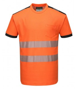 T181 - Jól láthatósági Vision póló - narancs / fekete