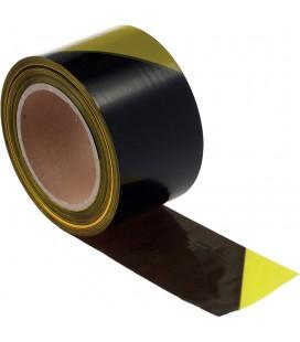 Jelzőszalag 7cm/200m sárga/fekete